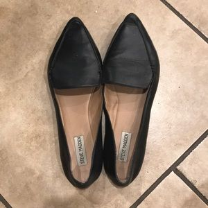 Steve Madden Shoes - Steve Madden Black Feather Leather Loafers